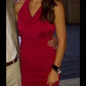 Red BCBG dress